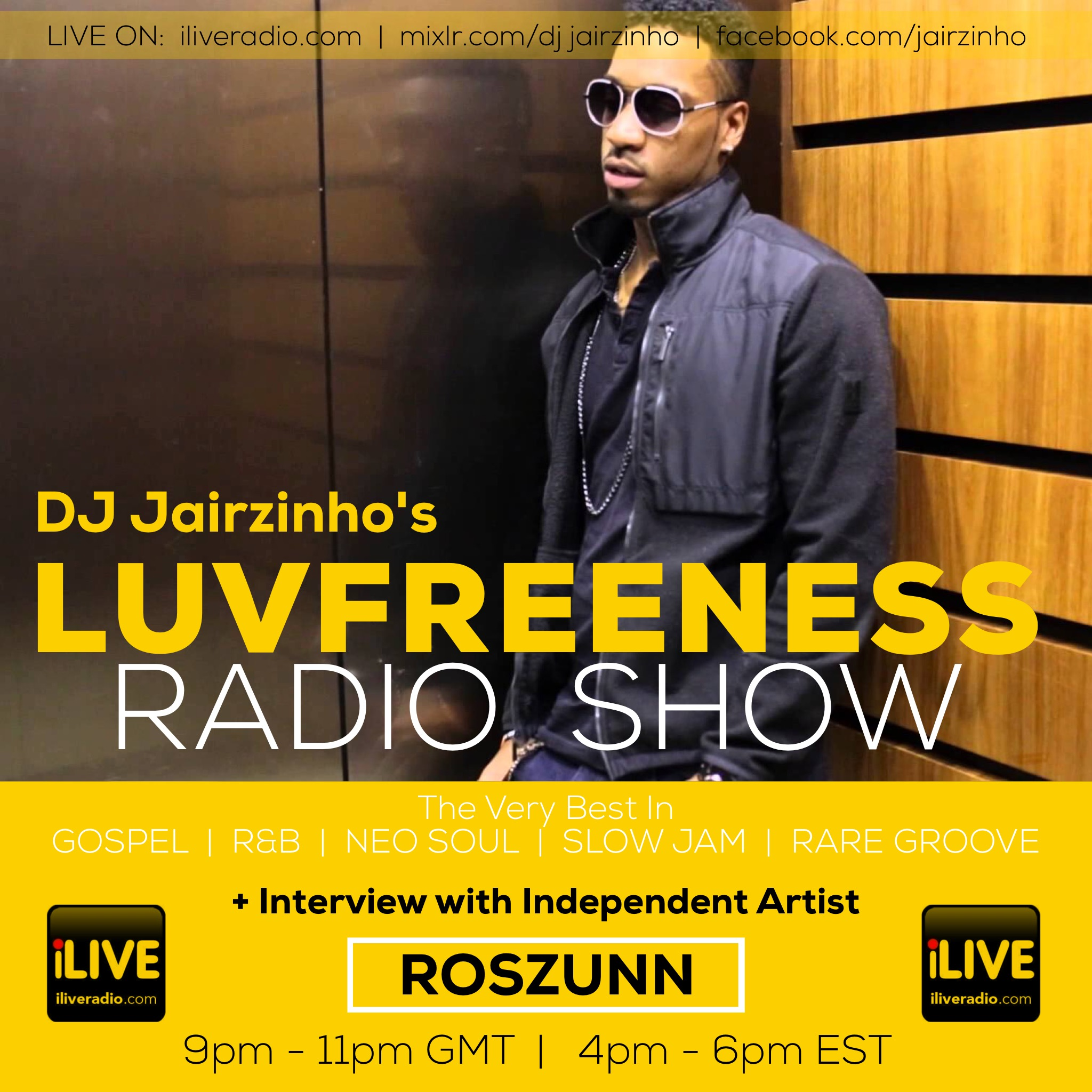 DJ Jairzinho Interviews ROSZUNN on the Luvfreeness Radio Show